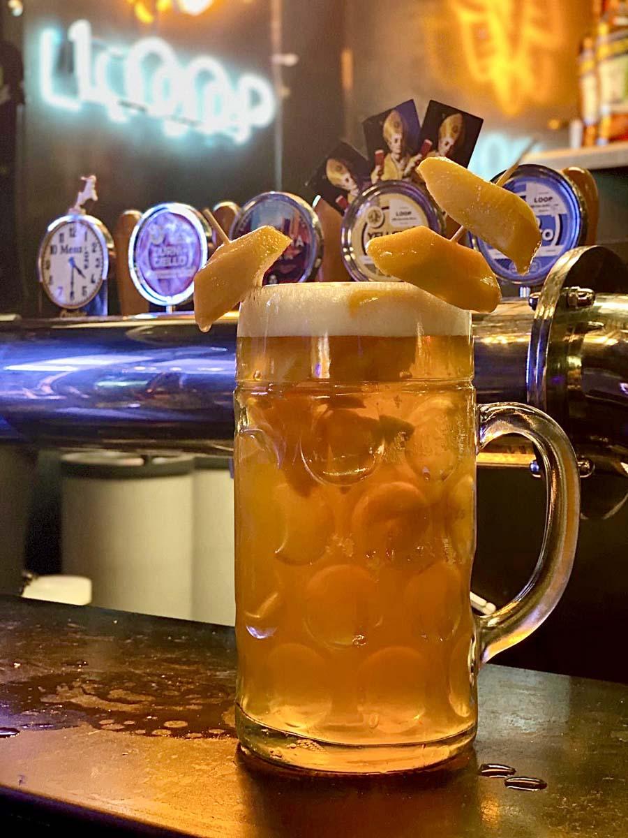 Novità 1 lt di birra con percoca
